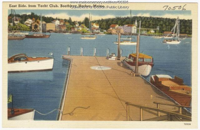 View from the Yacht Club, Boothbay Harbor, ca. 1938