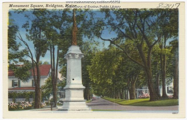 Monument Square, Bridgton, ca. 1938