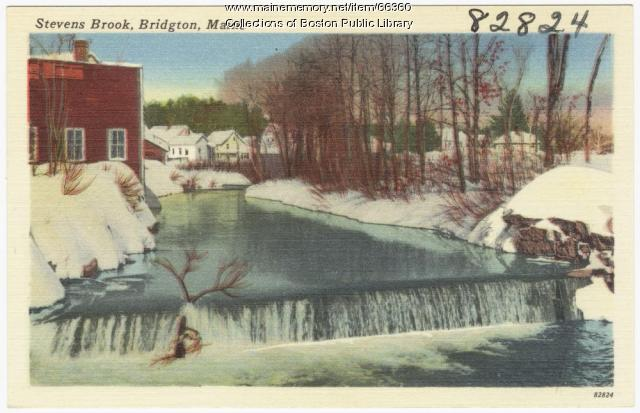 Stevens Brook, Bridgton, ca. 1938
