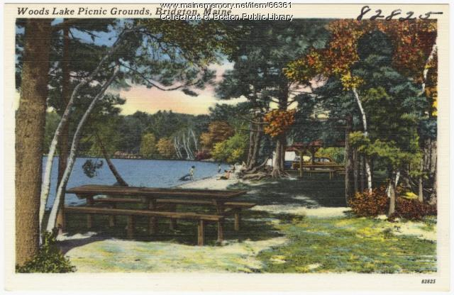 Woods Lake Picnic Grounds, Bridgton, ca. 1938
