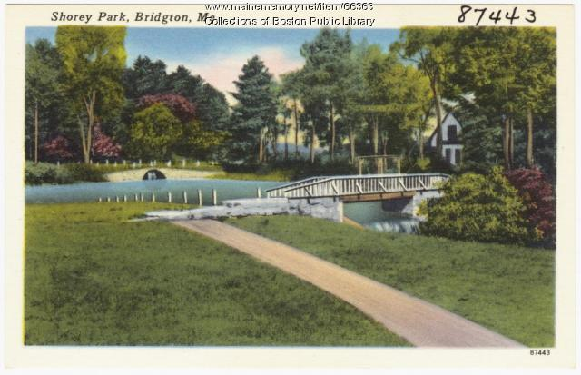 Shorey Park, Bridgton, ca. 1938