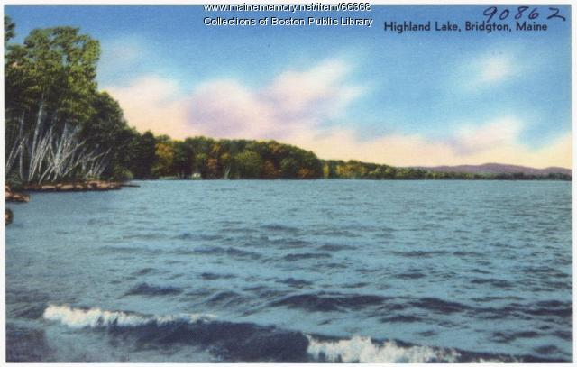 Highland Lake, Bridgton, ca. 1938