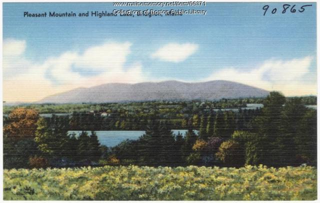 Pleasant Mountain and Highland Lake, Bridgton, ca. 1938