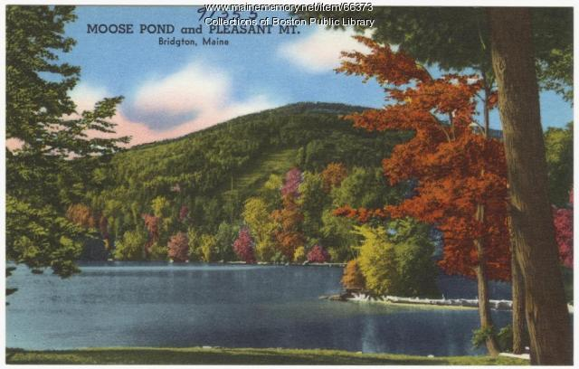 NOT IDENTIFIABLE AS MAINE Moose Pond and Pleasant Mountain, Bridgton, ca. 1938
