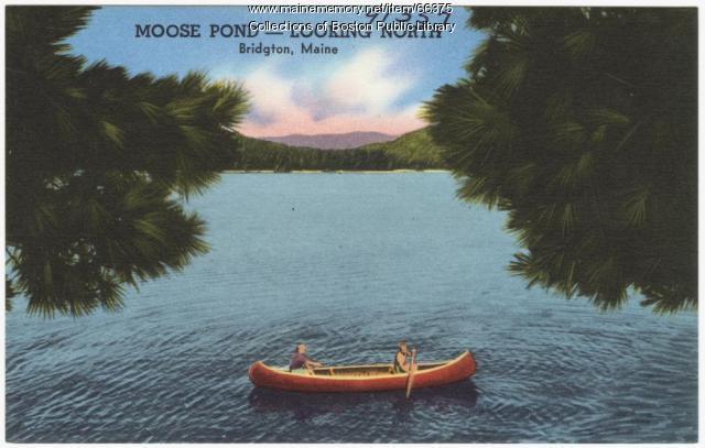 NOT IDENTIFIABLE AS MAINE Moose Pond, Bridgton, ca. 1938