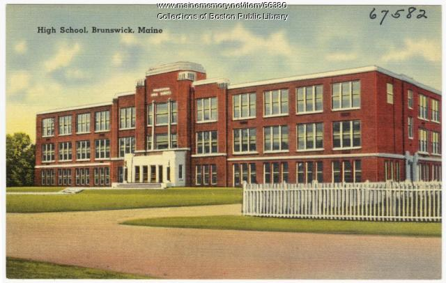Brunswick High School, Brunswick, ca. 1937