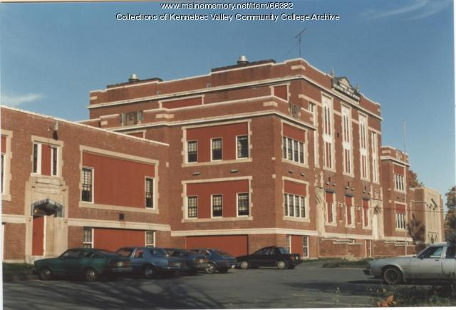 Gilman School rear, Kennebec Valley Vocational Technical Institute, Waterville, 1983