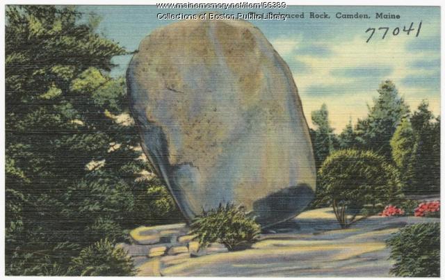 Balance Rock, Camden, ca. 1935