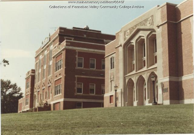 Gilman School front side view, Waterville, 1983