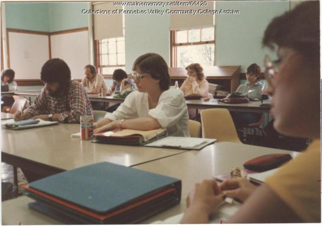Gilman School Business class, Waterville, 1983