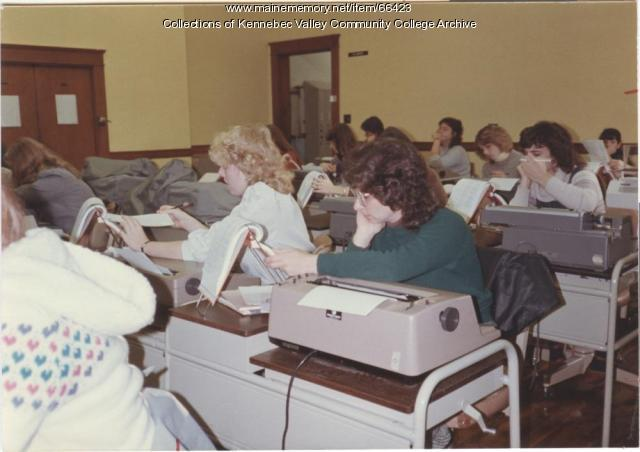 Secretarial science class, Waterville, 1983