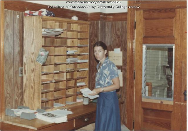 Gilman School's Lauren McReel at mail slots, Waterville, 1983