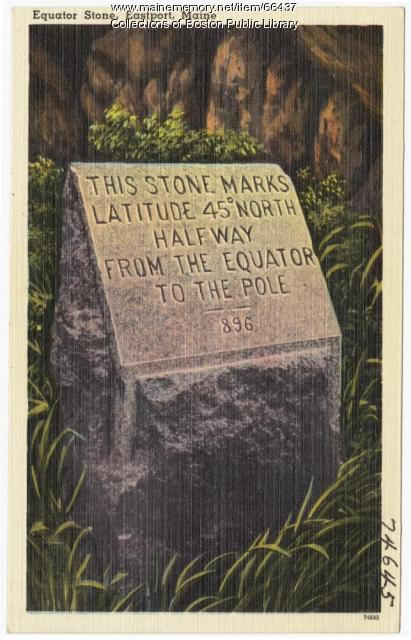 Equator Stone, Eastport, 1938