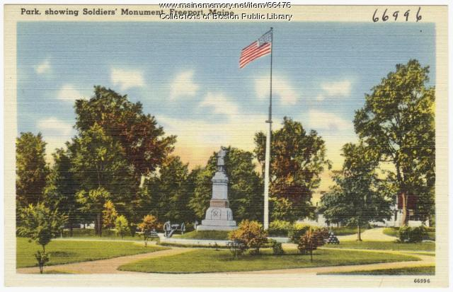Soldiers' Monument, Freeport, ca. 1938