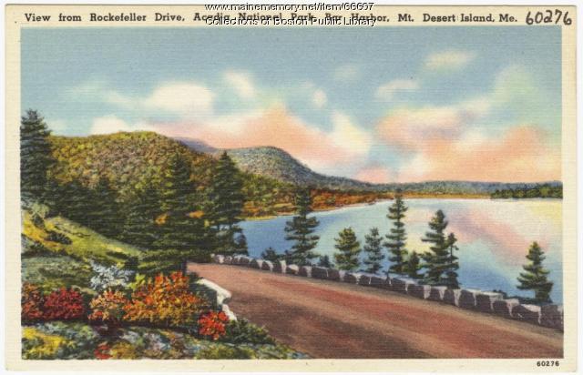 Rockefeller Drive, Mt. Desert Island, ca. 1935