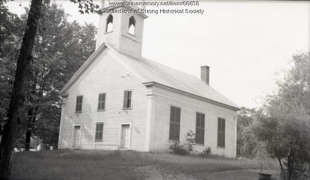 Congregational Church, Strong, ca. 1950