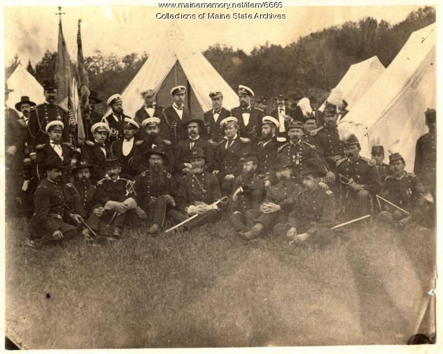 Russian Naval and Maine Militia Officers