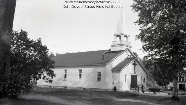 Steeple for Church of the Nazarene, Strong, ca. 1960