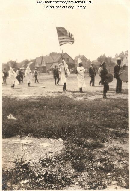 Ku Klux Klan march, Island Falls, 1924