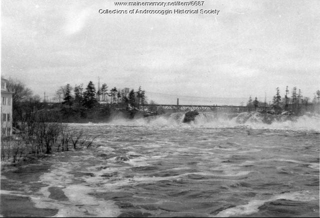 Lewiston Falls, flood of 1936