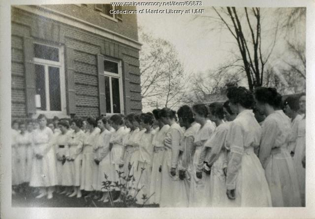 Arbor Day Celebration, Farmington State Normal School, 1918