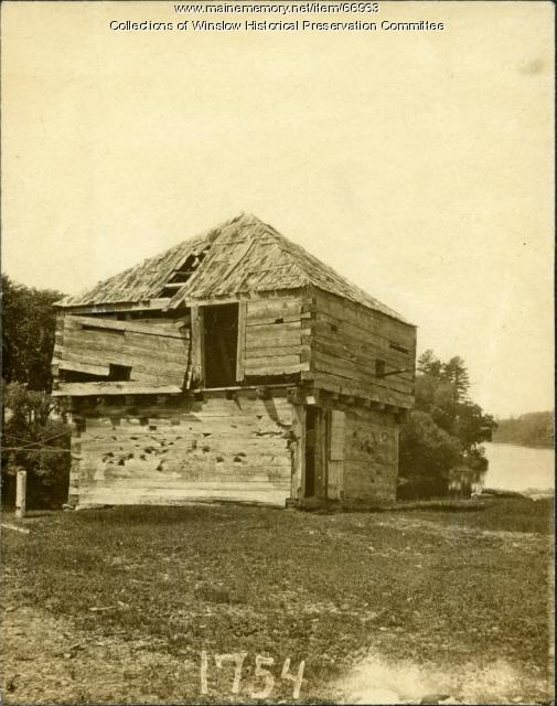 Fort Halifax in disrepair, Winslow, ca. 1873