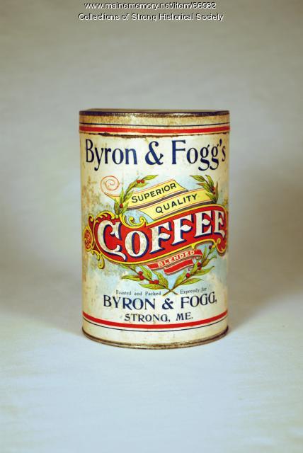 Byron & Fogg Coffee Can, Strong, ca. 1900