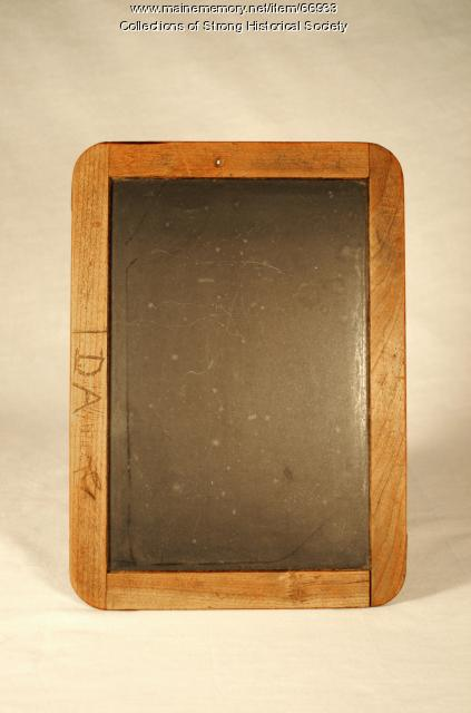 Slate tablet of Ida Allen, Strong, 1892