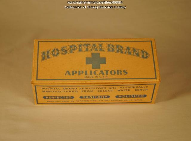 Box of Hospital Brand Applicators, ca. 1942