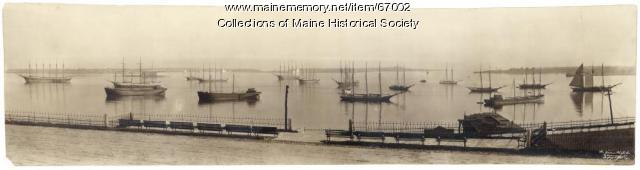 Ships in Portland Harbor, ca. 1910