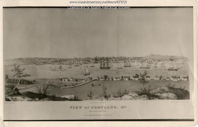View of Portland, 1848
