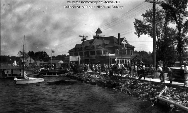 The Casino and Long Lake, Naples, ca. 1920