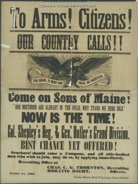 Civil War recruiting broadside, 1861
