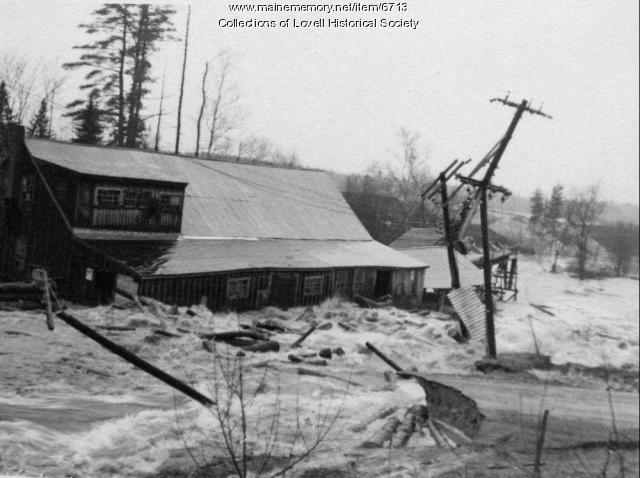 Kezar River flood, Lovell, 1953