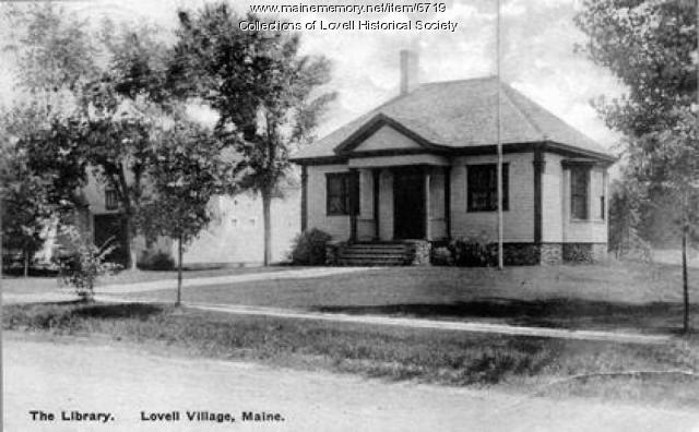 C.E. Hobbs Memorial Library, postcard, ca. 1930