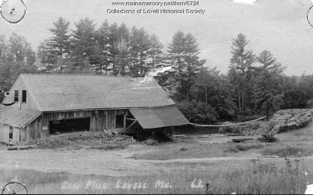 Sawmill in Lovell Village, ca. 1930