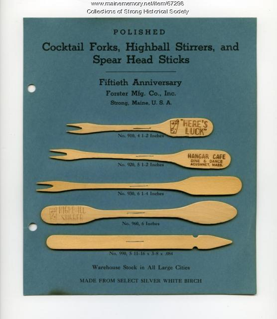 Forster Mfg. Co. samples, Strong, 1947