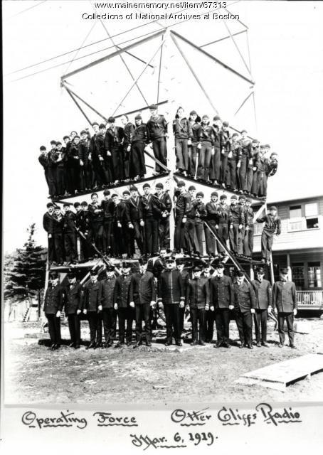 Radio station crew, Otter Cliffs, 1919
