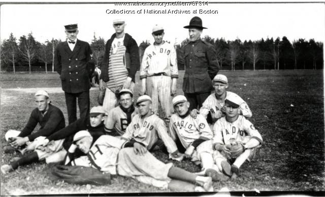 Navy baseball team, Otter Cliffs, ca. 1918