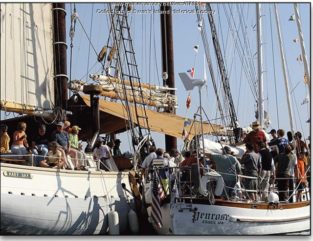 Sweet Chariot musicians on a windjammer, Swan's Island, ca. 2000