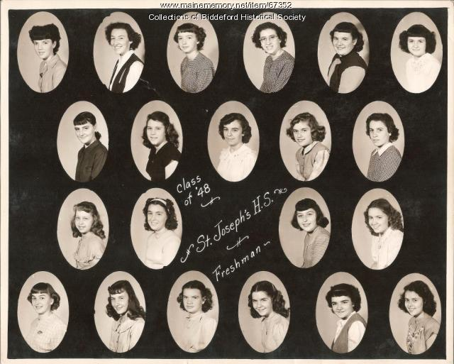 St. Joseph High School Freshman class of 1948, Biddeford