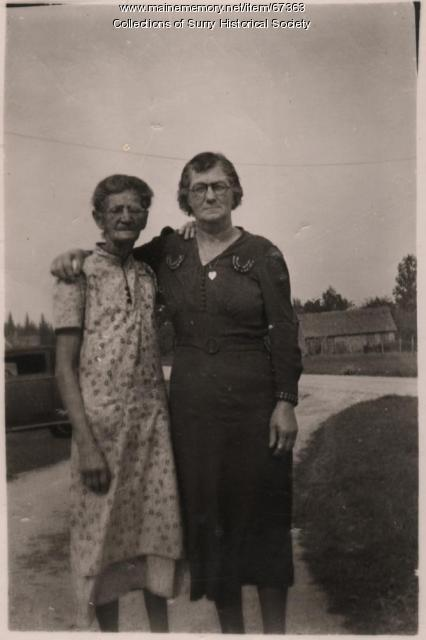 Jane and Susie, Surry, ca. 1945