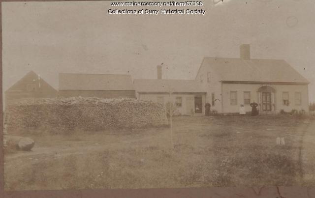 Osmond Clark house, East Surry, ca. 1888