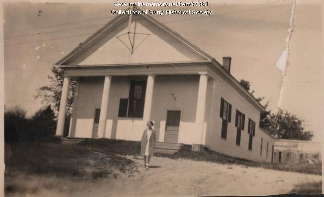 Surry Grange Hall, Surry, ca. 1930