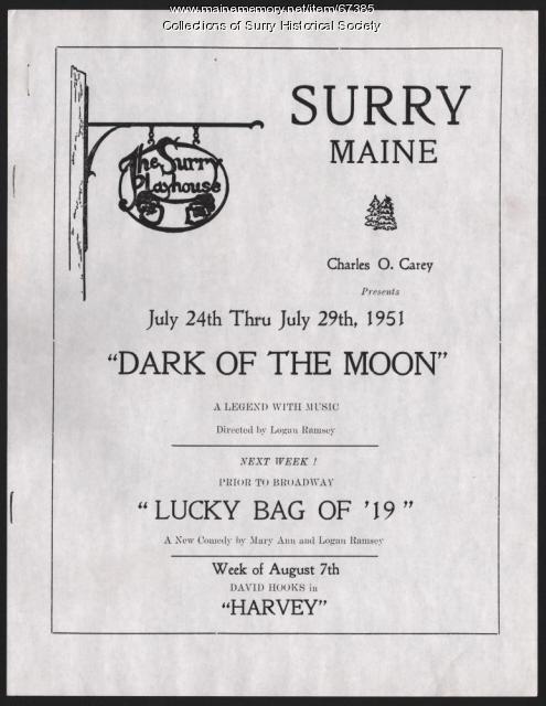 Surry Playhouse program, 1951