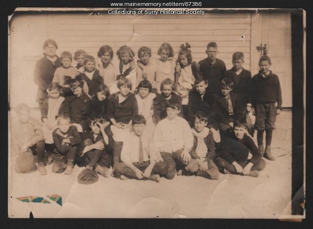 Class Photo, Surry, ca. 1920