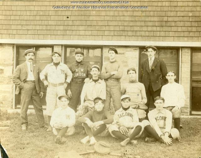 Taconnet Baseball Team, Winslow, ca. 1910
