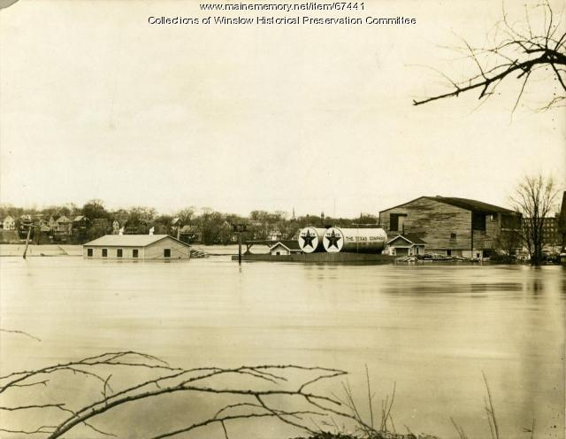 Flooding of Fort Point, Winslow, 1936
