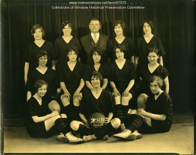 Girls' Basketball Team, Winslow High School, 1929