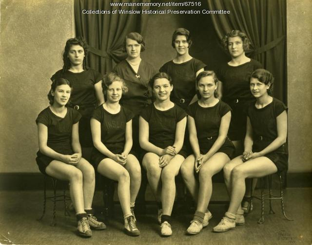 Girls' Basketball team, Winslow High School, 1931